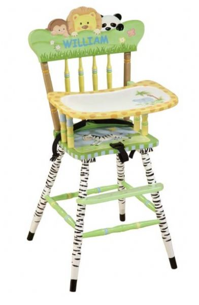 Children's Teamson Sunny Safari High Chair
